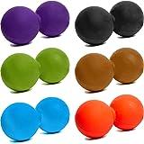 Palla per massaggi »Globo« / Coppia di palline Twin-Ball / Rullo miofasciale per praticare automassaggi efficaci / disponibile in colori alla moda