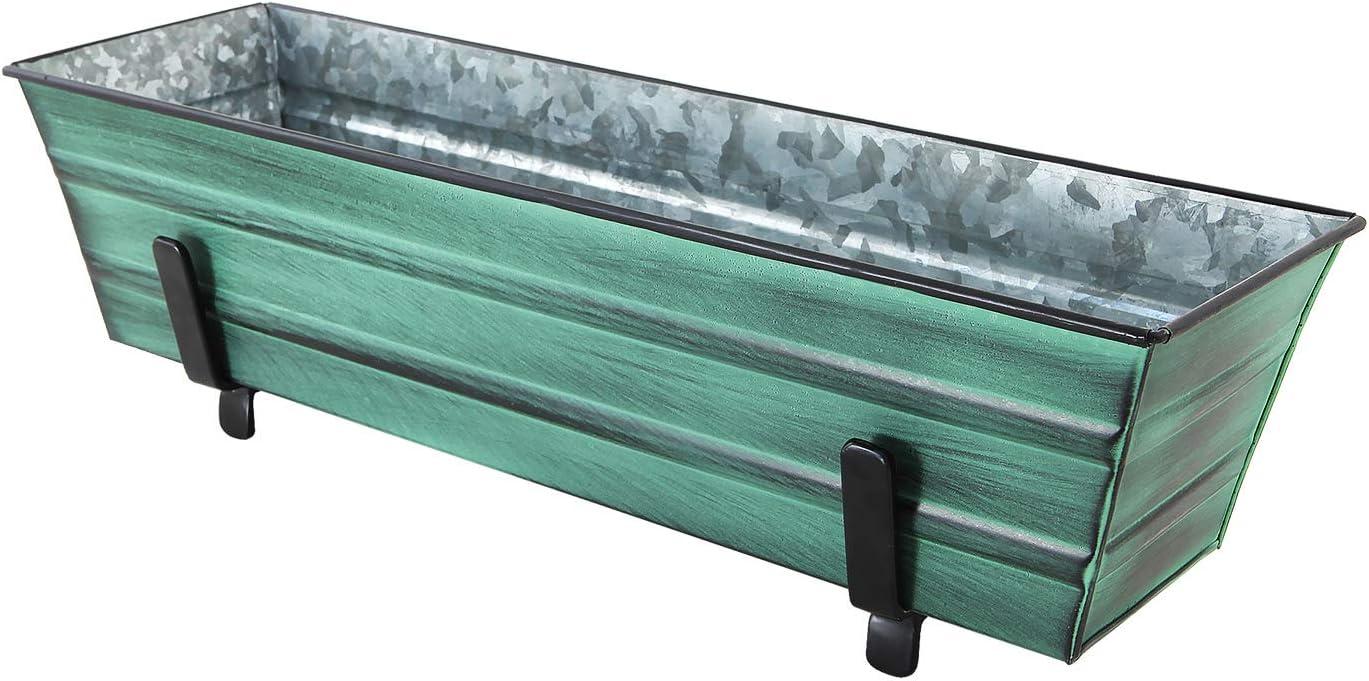 10-inch Black iron Achla Flower Window Box Planter Brackets
