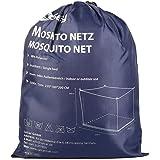 Sekey 220x100x200 cm Mosquitera para cama doble con Kit de colocación, Cortina, Protección repelente contra Insectos…