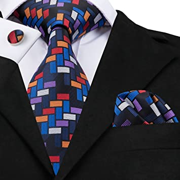 HYCZJH Corbatas para Hombre Hecho a Mano geométrica Corbata de ...