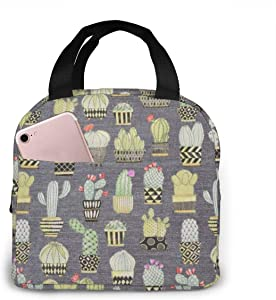 Outdoor Travel Picnic Lunch Bag - Lovely Llamas Cactus Hoedown Gray Xmas Neoprene Lunch Box Keeping Food And Drink Cool Or Warm For Hours