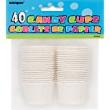 White Paper Candy and Condiment Cups, 40ct