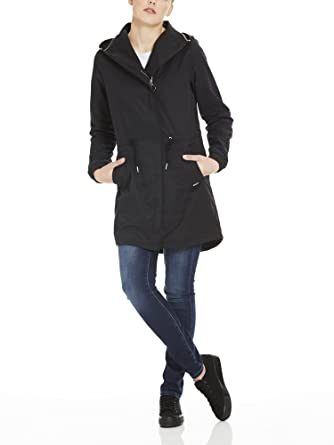 Bench Feminine Coat with Detachable Hood, Manteau Femme, (Black Beauty Bk11179), Small