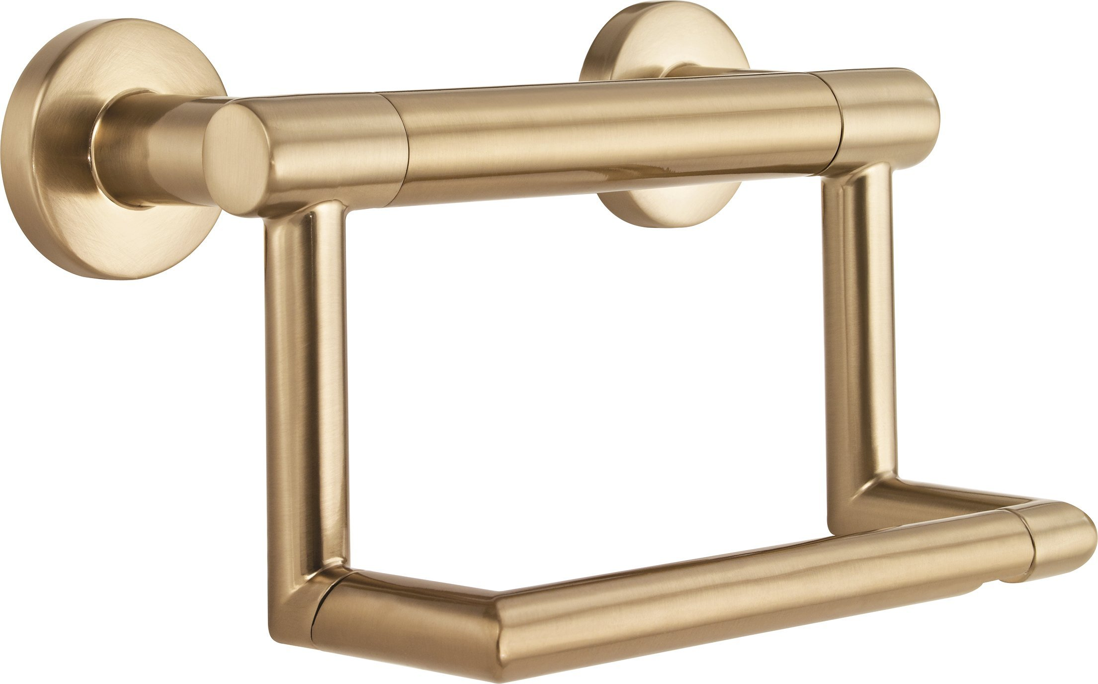 Delta Faucet 41550-CZ Contemporary Tissue Holder/Assist Bar, Champagne Bronze by DELTA FAUCET