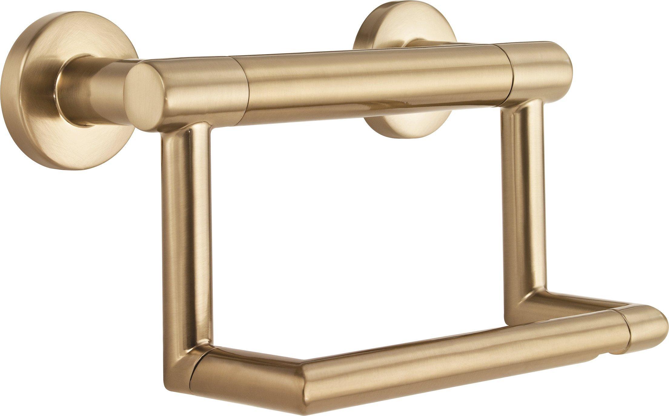 Delta Faucet 41550-CZ Contemporary Tissue Holder/Assist Bar, Champagne Bronze