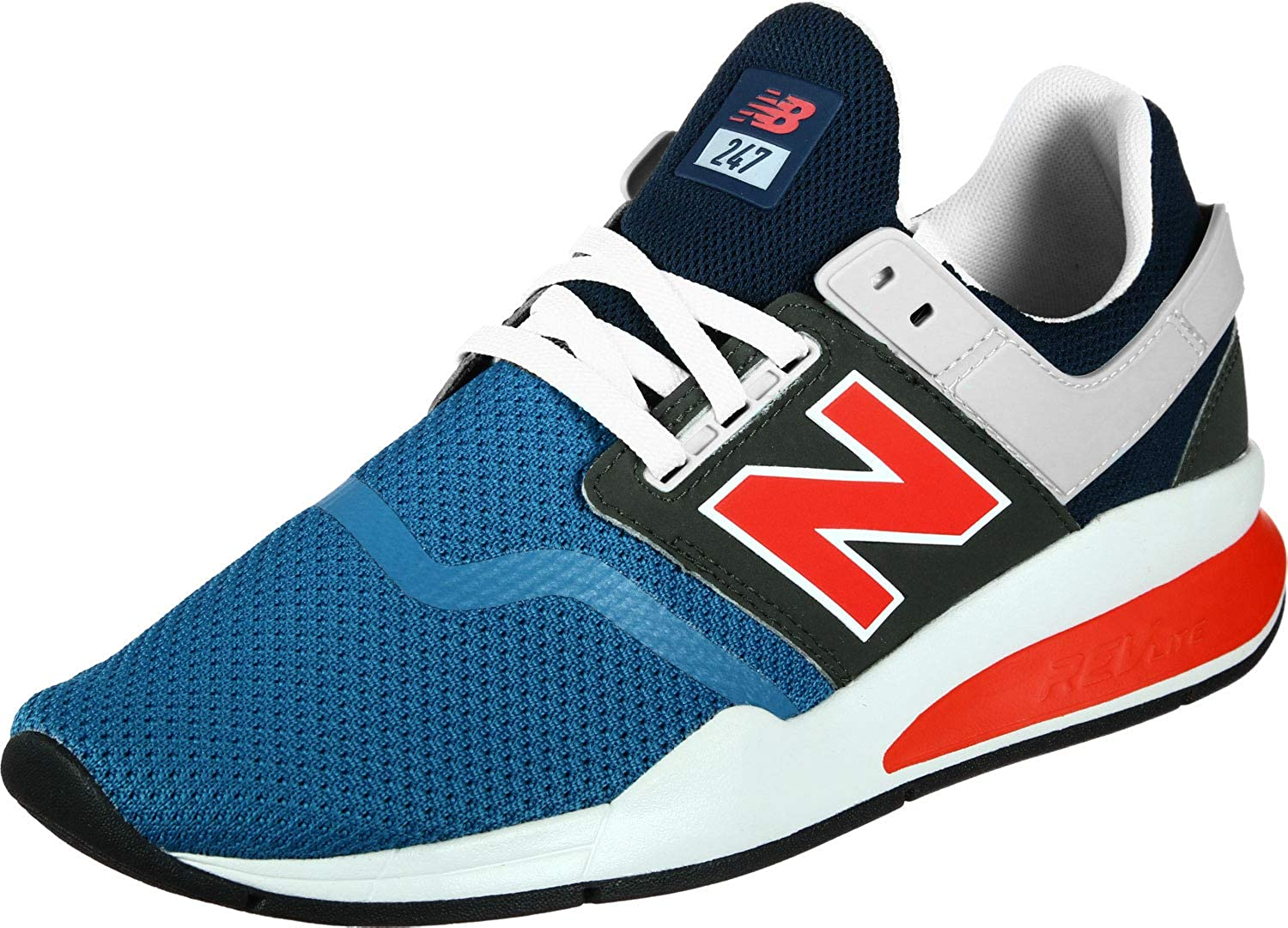 Amazon.com | New Balance Men's 247 Knit Trainers, Blue, 7.5 ...