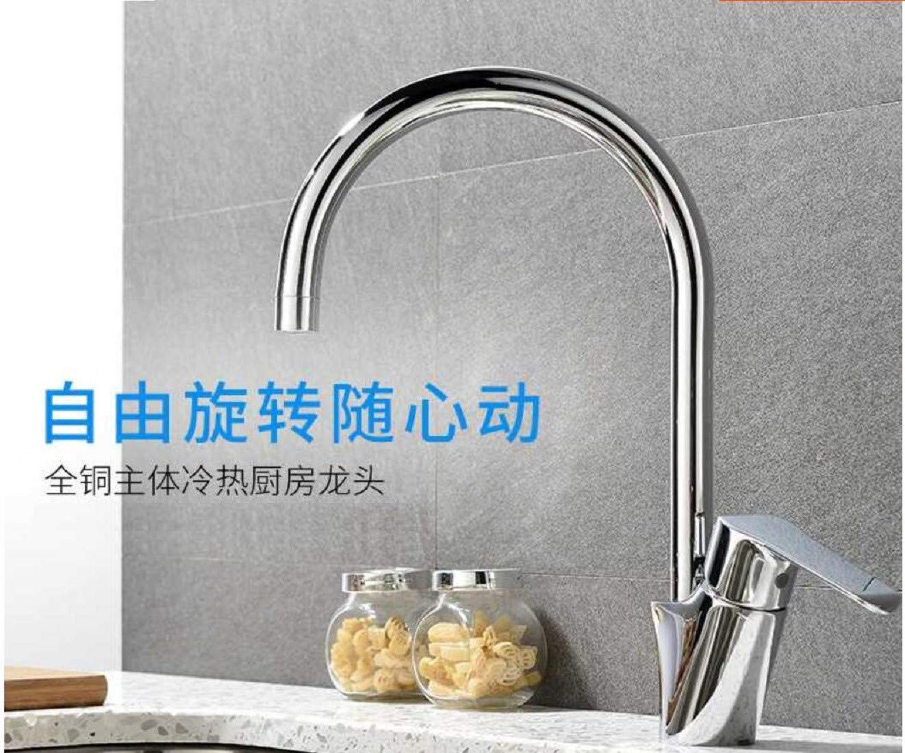 Kitchen Faucet Cool And Hot Rotation Of Single Hole In Faucet Kitchen Kitchen Sink Faucets Basin Mixer Faucet