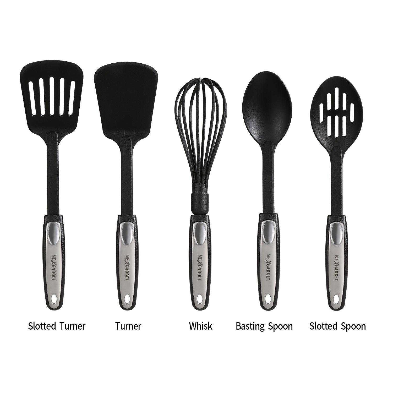 nexgad premium 25 piece kitchen utensils sets stainless steel