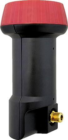 Megasat 0400011-single LNB Single 0,1dB Mega Solo Full HD 3D Negro/Rojo