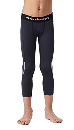 3e226305e4a5ae Amazon.com: Legendfit Basketball Compression Pants for Kids Boys 3/4 Capri  Running Tights Sports Leggings Baselayer Cool Dry Youth: Clothing