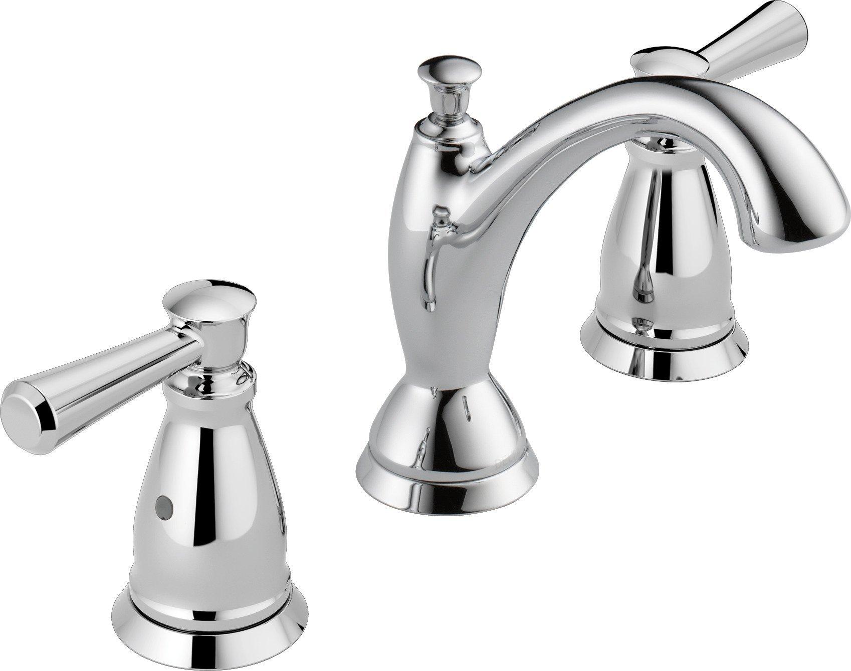 Delta Faucet 3593-MPU-DST Two Handle Widespread Bathroom Faucet, Chrome,