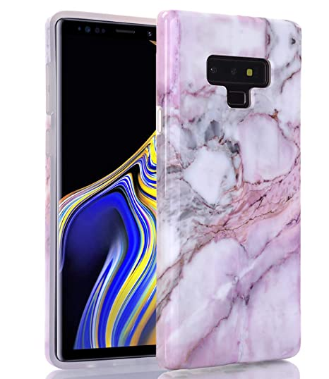 ebc421374b2 BAISRKE - Carcasa para Samsung Galaxy Note 9, diseño de mármol Mate, Suave  TPU y Silicona, Color Negro, Rosado mármol: Amazon.com.mx: Electrónicos