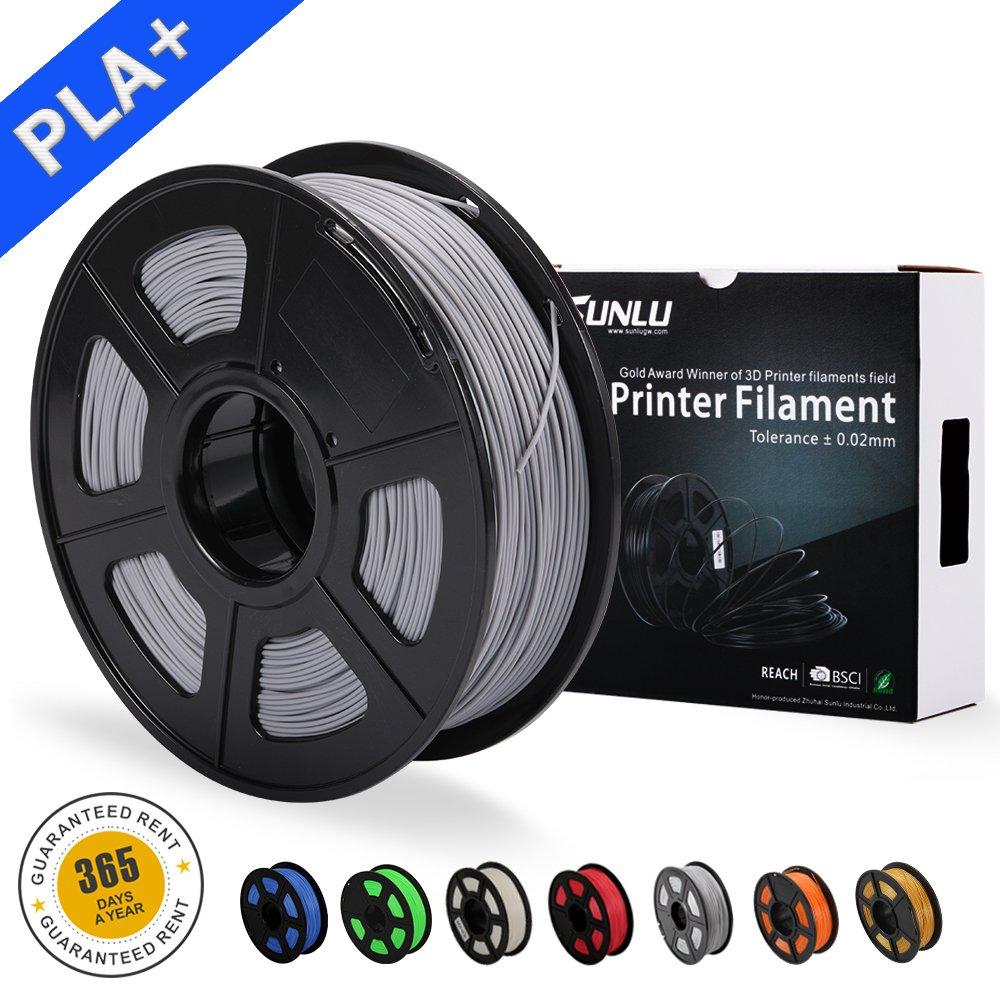 SUNLU PLA Carbon Fiber 3D Printer Filament, PLA Carbon Fiber 1.75 mm, 3D Printing filament Low Odor Dimensional Accuracy +/- 0.02 mm, 2.2 LBS (1KG) Spool 3D Filament for 3D Printers & 3D Pens, PLA Carbon Fiber SUNLUGW UK-ABS green