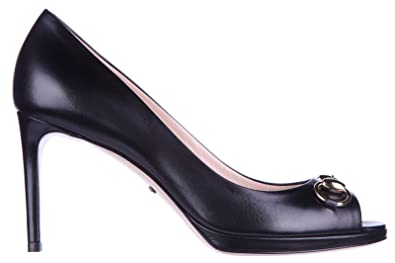 d1ffbfb6798b6 Amazon.com: Gucci Women's Leather Open Toe Pumps Court Shoes Heel ...