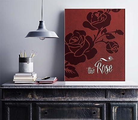 Song Lyrics Art Print Poster : THE ROSE by Bette Midler