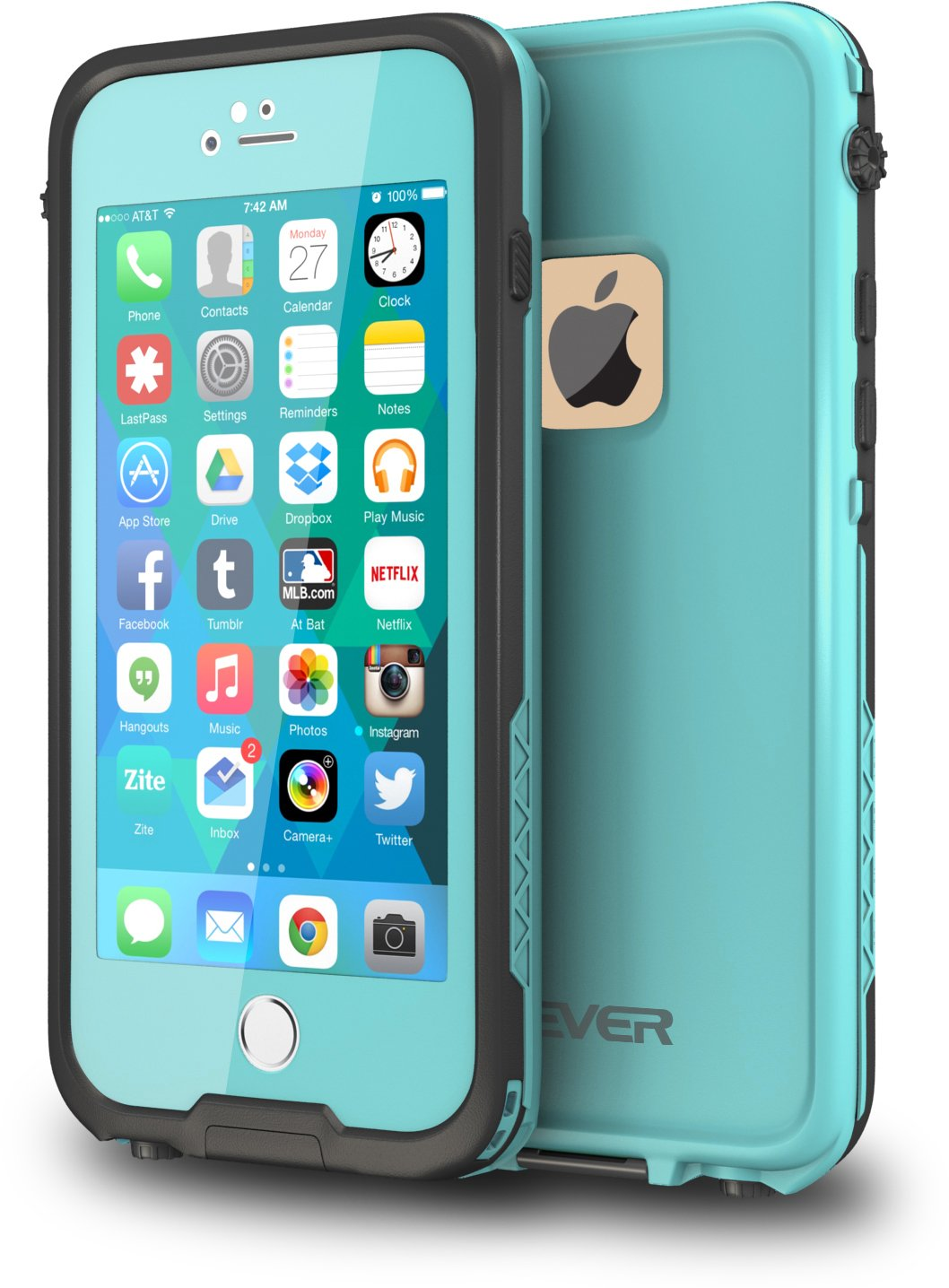 CellEver iPhone 6 / 6s Case Waterproof Shockproof IP68 Certified SandProof Snowproof Full Body Protective Cover Fits Apple iPhone 6 and iPhone 6s (4.7'') - Ocean Blue