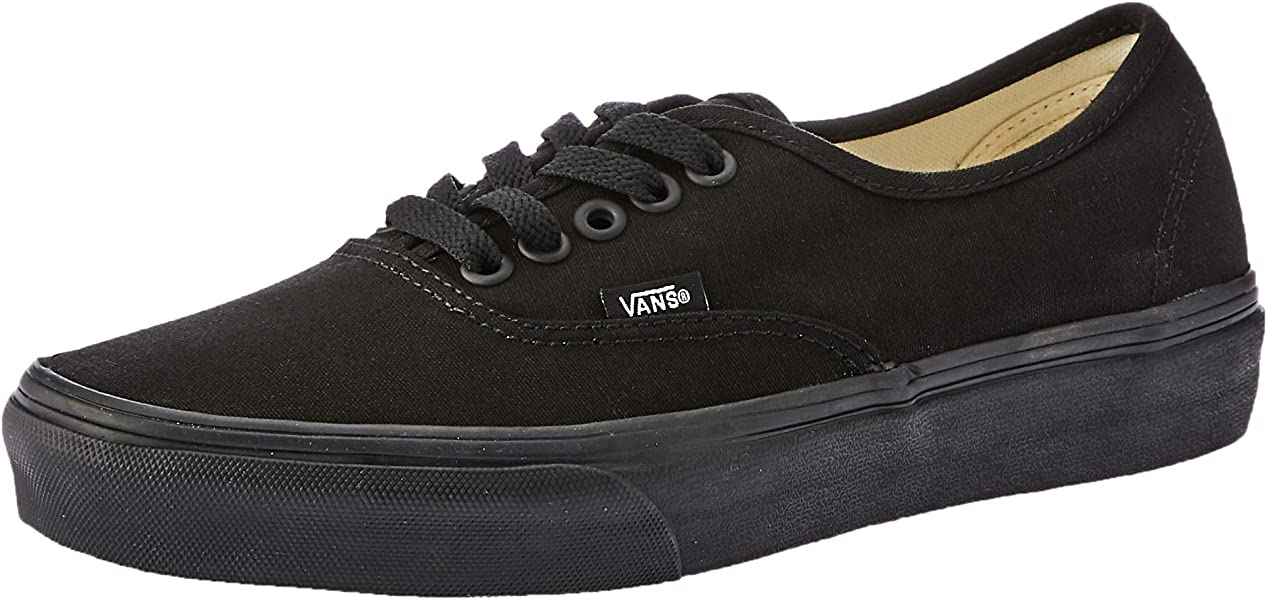 Vans Unisex Authentic Black Black Sneaker - 7.5 4a87a75d25