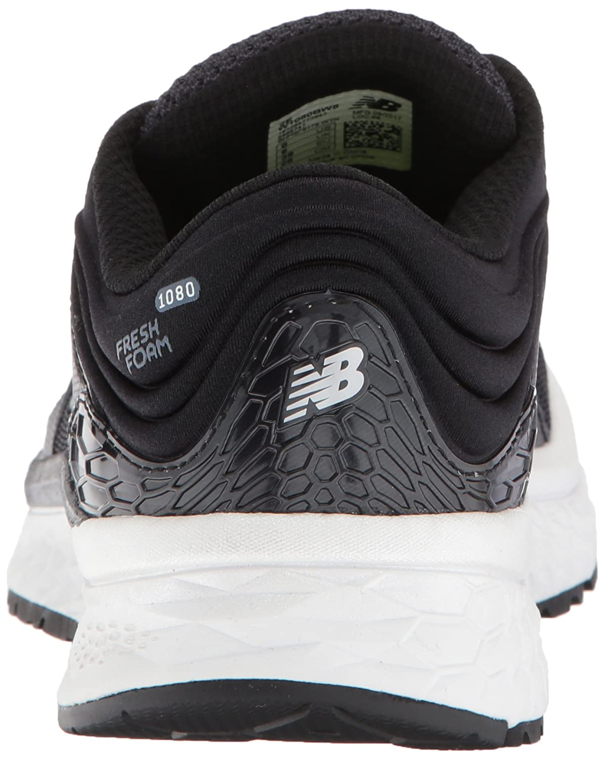 Amazon.com | New Balance Womens 1080v8 Fresh Foam Running Shoe, Black/White, 13 D US | Running