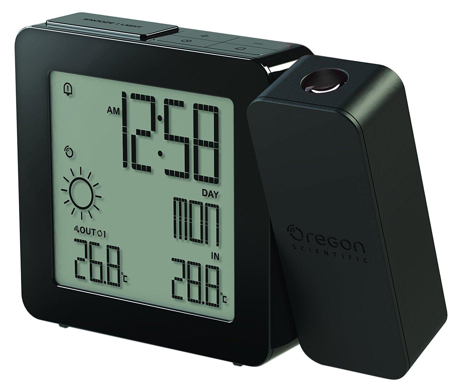 Oregon BAR-368-P - Reloj Despertador con Doble Alarma (Proyección de ...