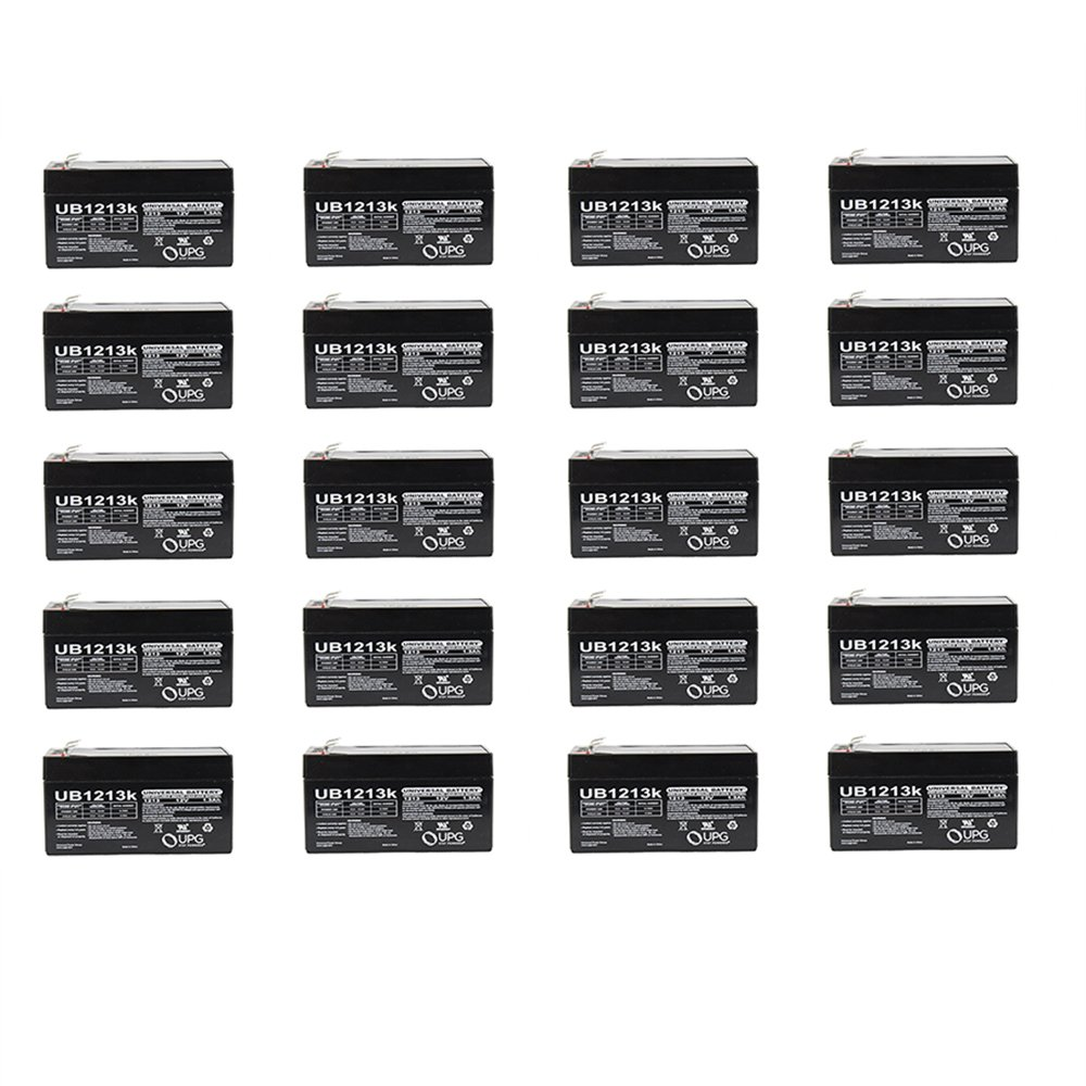 12V 1.3Ah SLA Battery Replacement for EnerSys NP1.2-12 - 20 Pack by Universal Power Group