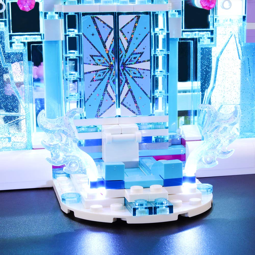 BRIKSMAX Led Lighting Kit for Frozen Elsas Magical Ice Palace Compatible with Lego 41148 Building Blocks Model Not Include The Lego Set