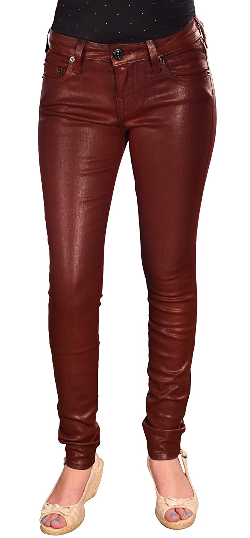 True Religion Brand Jeans Women's Super Vixen Coated Halle Skinny Pants