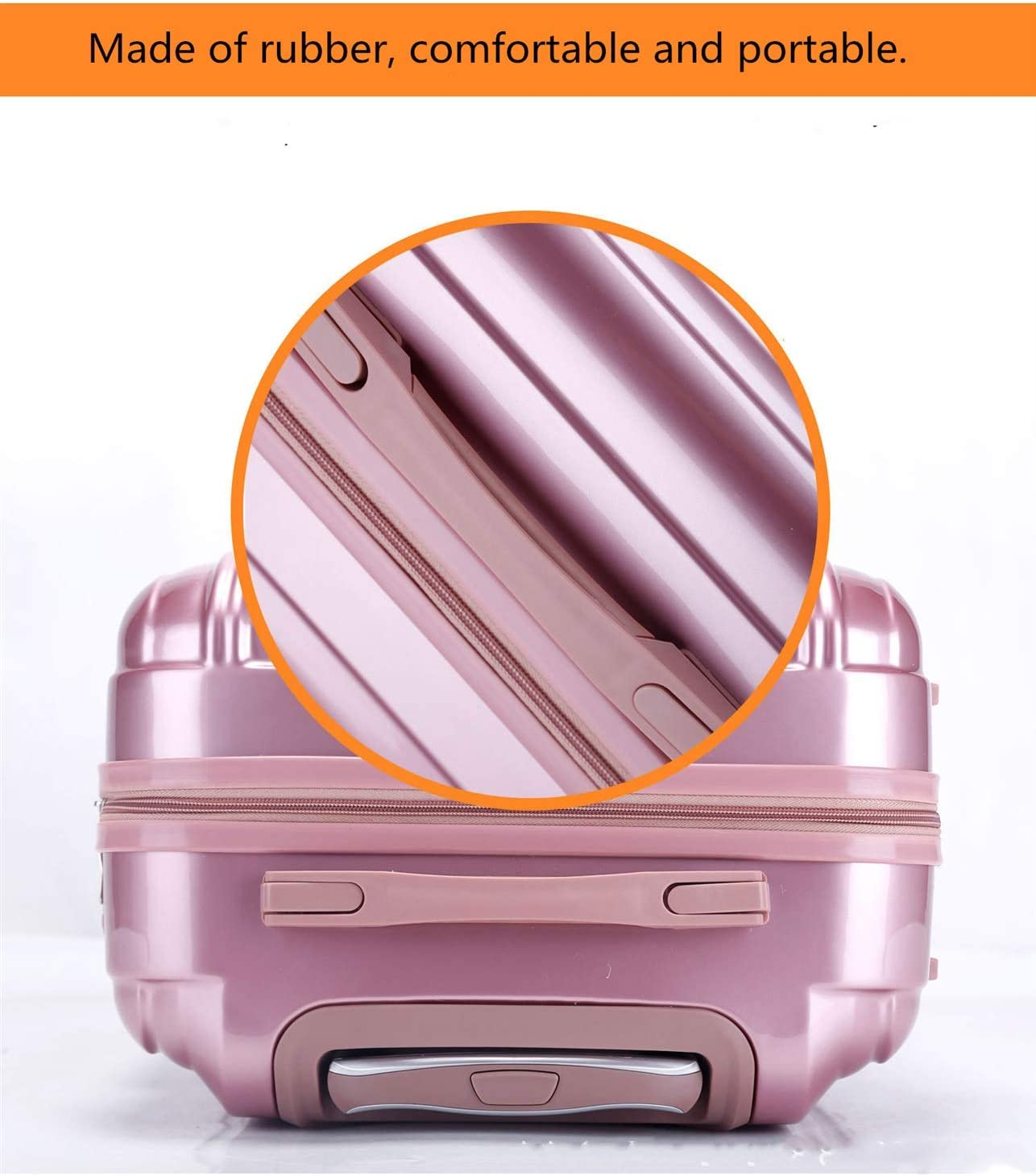 Color : Rose Gold, Size : 24 Lcslj Abs Trolley case Universal Wheel Student Suitcase Male Password Box Female Suitcase Luggage