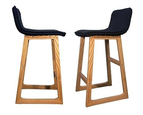 Sgabelli da bar in legno u ccabu d set di pezzi con design