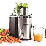Duronic JE10 Centrifuga per frutta e verdura intera Centrifuga per alimenti Centrifuga elettrica automatica Centrifugatore 1000W acciaio INOX con caraffa per centrifugati e succhi