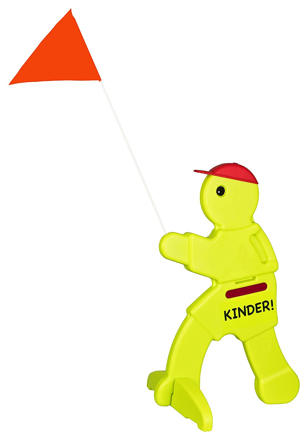 'Safety Warning Model with flag and Children.' 5 | Funny In Signal with Reflectors | Warning/Playing Children. Stable Stand – Seen from Far | Perfect On Nursery, Schulwegen Area, Plots and even Lstrassen Heimwert