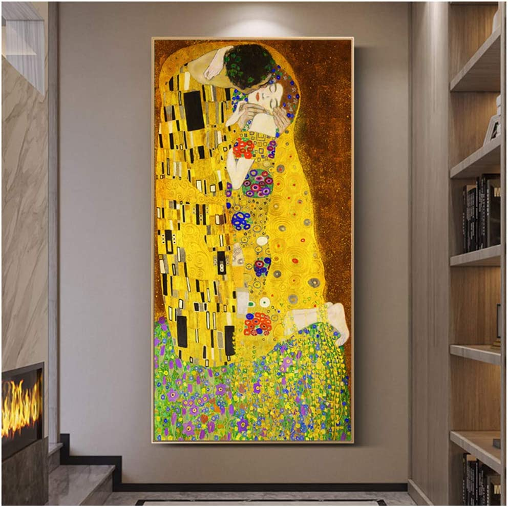The Kiss Gustav Klimt Wall Art Photo Poster Famous Painting Canvas Pictures