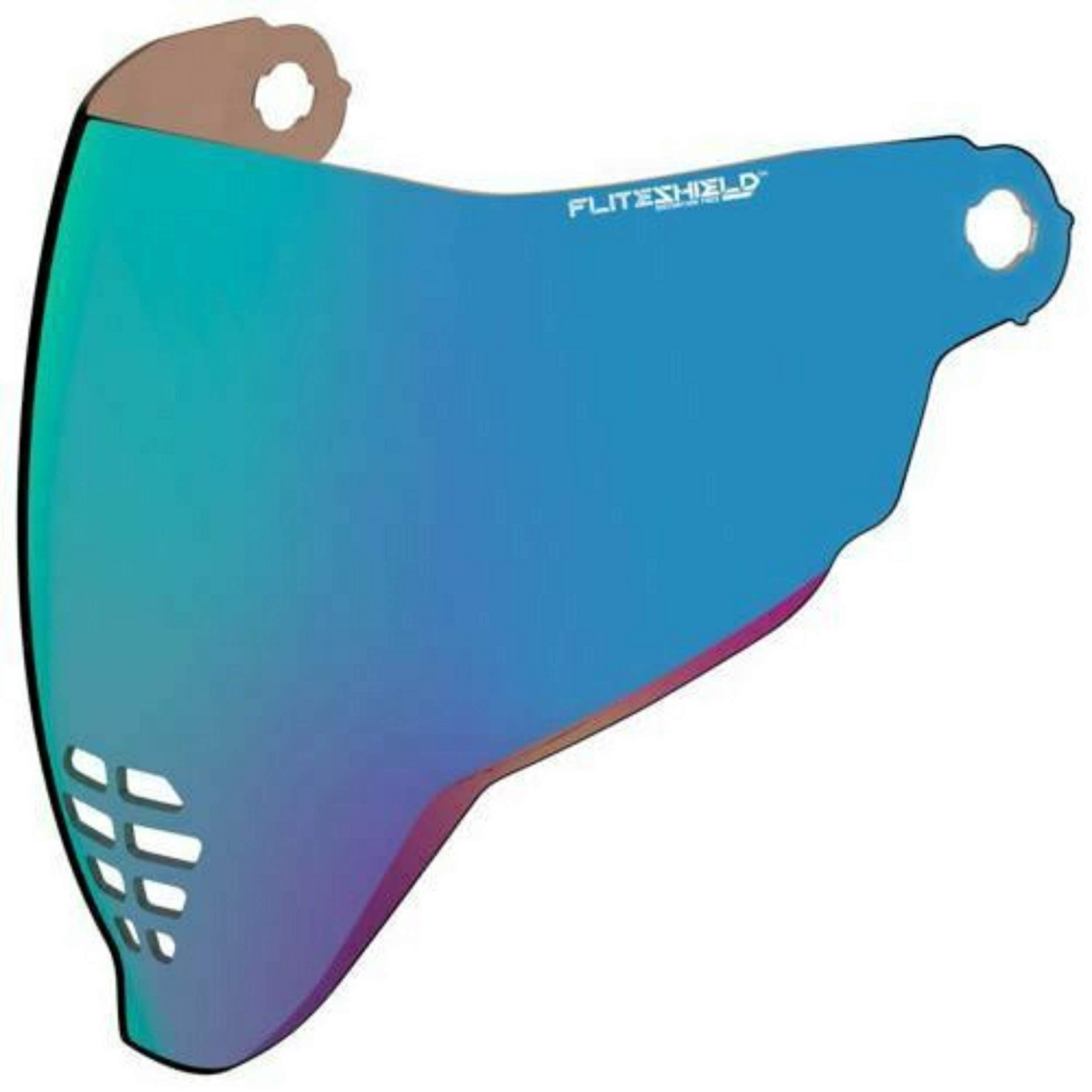 Icon Motorcycle Airflite Visor Motorbike Helmet Face Shield Mirrored Blue