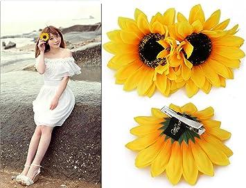 Haarspange Sonnenblume