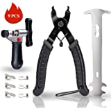 GORNORVA Bike Chain Tools with Chain Hook Chain Cutter Bike Link Plier Chain Wear Indicator Tool + 3 Pairs Bicycle Missing Links