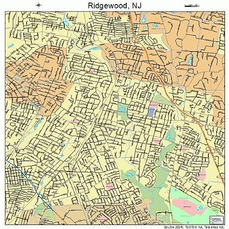 Ridgewood New Jersey Map.Amazon Com Large Street Road Map Of Ridgewood New Jersey Nj