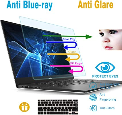 Anti Glare Screen Protector with Webcam Cover Blue Light Blocking Eye Protection Screen Protector for Dell XPS 15 9575 Anti Blue Light Screen Filter Protector for Dell XPS 15 9575 15.6