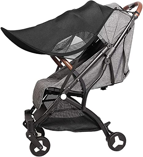 Universal beb/é sombrilla para mamas y papas carrito para cochecito de beb/é color negro