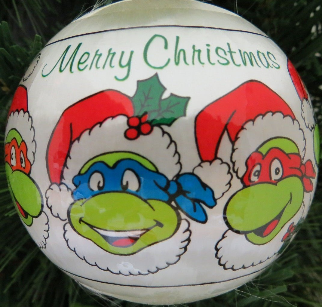 Amazon.com: Vintage TEENAGE MUTANT NINJA TURTLE Christmas Ornament ...