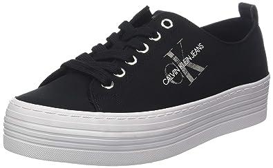 Femme Nylon Jeans Sneakers Basses Calvin Zolah Klein nYxqt7z