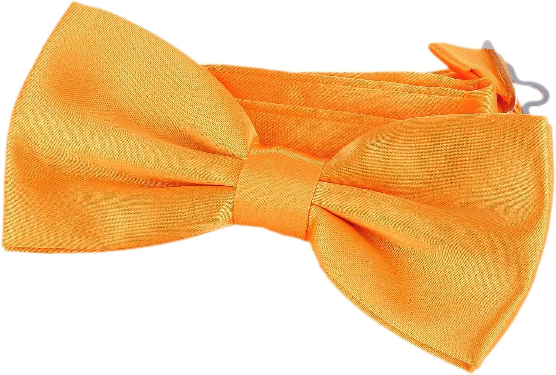 DonDon Pajarita Hombre corbatín amarillo naranja ya atado ...
