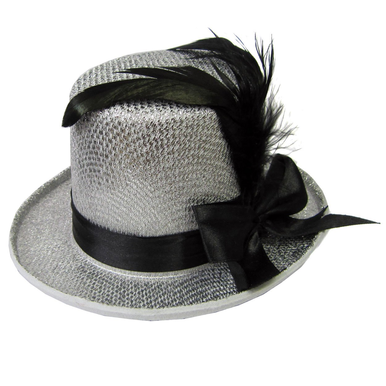 Jacobson Hat Company Women's Adult Mini Glitter Top Hat Headband Black 24610 BKAJ