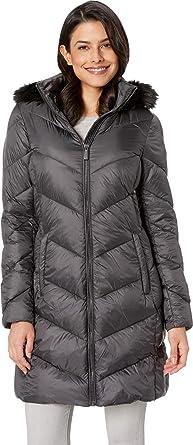 afbf9371309 MICHAEL Michael Kors Women's Zip Front Down Coat M823815GZ Gunmetal Small