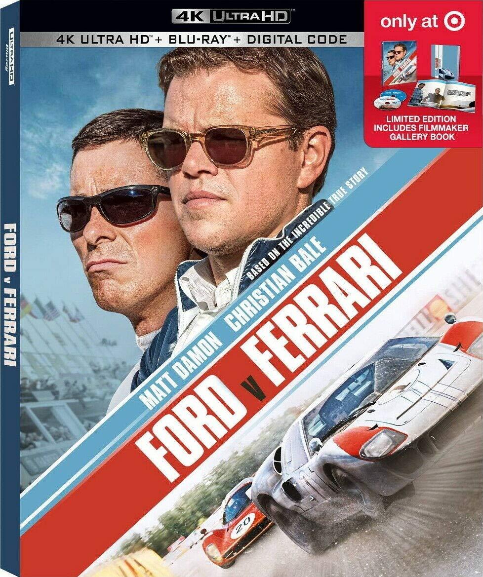 Amazon Com Ford V Ferrari Target Exclusive 4k Blu Ray Movies Tv