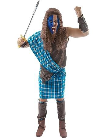 adult scottish warrior fancy dress costume extra large