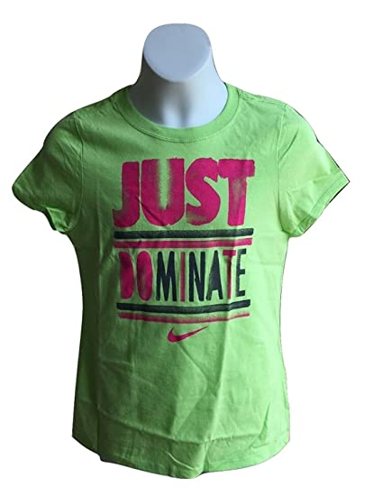ab09b2ec4ef1 Amazon.com  Nike Girls Just Dominate Athletic Cut T-Shirt Tee 902435 ...