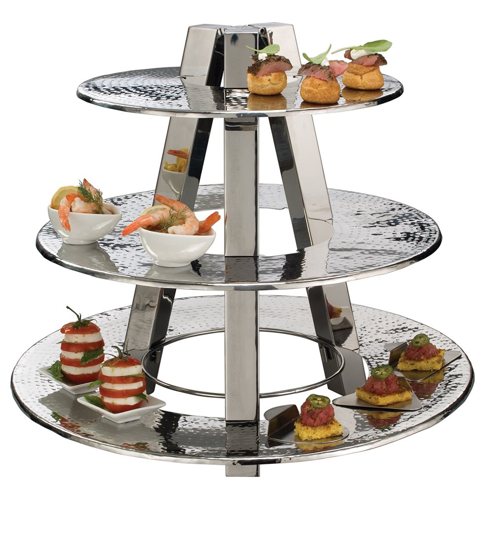 American Metalcraft TTS2319 Tasting Tree and Plates, 23'' Length x 23'' Width, Silver