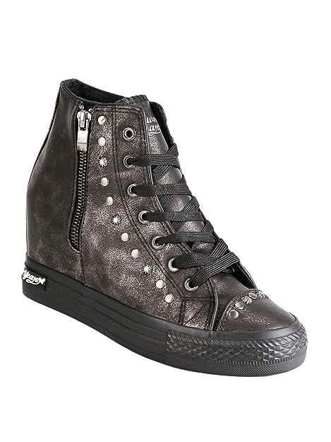 022c77a070 Sneakers Alte con Zeppa Interna Donna Ecopelle