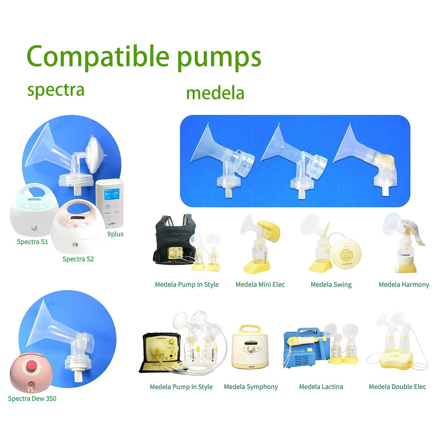 Spectra S2 and Medela Swing Breast Pump Duckbill Valves for Spectra and Medela BPA//DEHP Free CNNIK Breast Pump Accessories Replacement Duckbill Silicone Valves Spectra S1 6 Pack