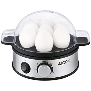 Aicok Egg Cooker Multi Functional Electric Egg Boiler Stainless Steel Egg Steamer With