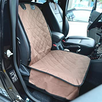 Amochien Dog Front Car Seat Cover Waterproof Scratch Proof Nonslip Rubber